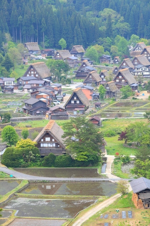gifu: Shirakawago, Gifu, Japan Stock Photo