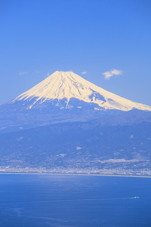 plateau point: Mt. Fuji and Suruga bay from Darumayama plateau, Izu Peninsula, Japan