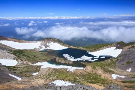 gifu: Crater lake of Mt. Norikura, Gifu, Japan