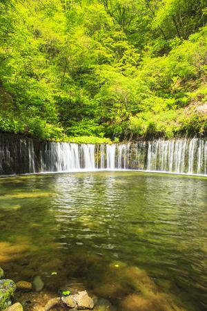 軽井沢白糸の滝、長野、日本