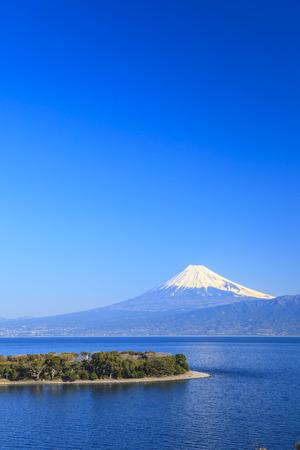 mt fuji: Cape Osezaki and Mt. Fuji seen from Nishiizu, Shizuoka, Japan