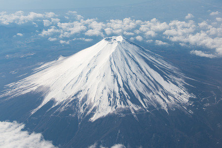 Mt.Fuji snowcapped Stock Photo