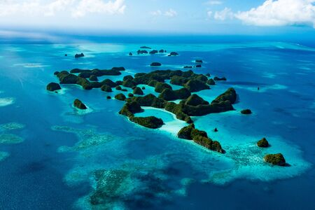Palau World Heritage Rock Islands Southern Lagoon Stock fotó
