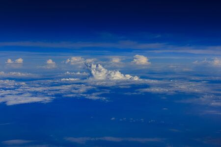Sea of ??clouds, cumulonimbus and blue sky Stock Photo