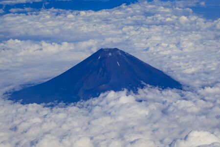 August, summer,Mount Fuji on the cloud