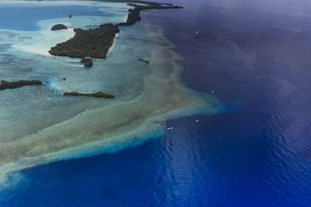 Palau Blue corner and Blue hole. 写真素材