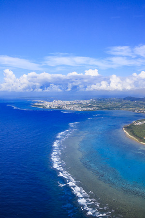 Ishigaki city bird's eye view