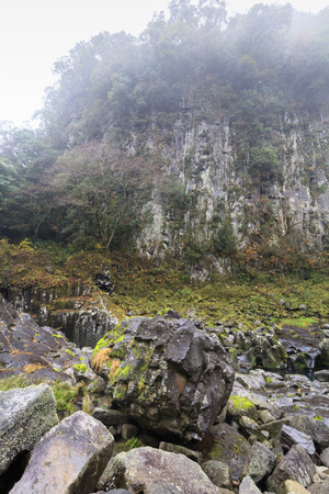 Kihachis Strength Rock and Rock skin of Takachiho Gorges Stok Fotoğraf
