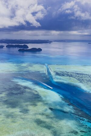 Palau German Channel - World heritage site Stok Fotoğraf - 132375633
