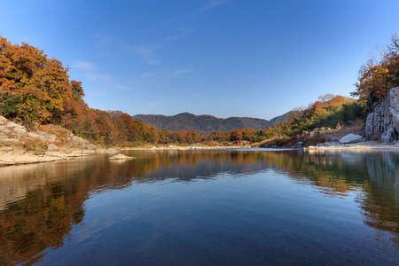 Autumn Chichibu Nagatoro dyed in autumn colors