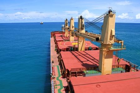 bulk carrier: Bulk carrier at Cotonou anchorage