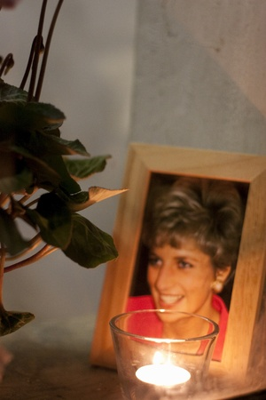 englishman: marche,italy-13 october 2007:photograph of princess diana in the house of an englishman living in italy Editorial