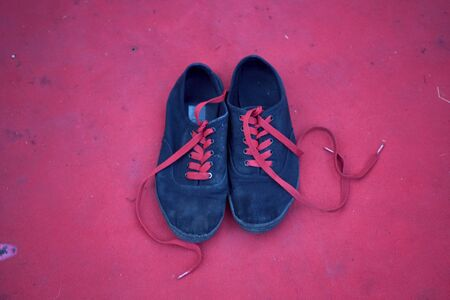 frazzled: casual shoes Stock Photo