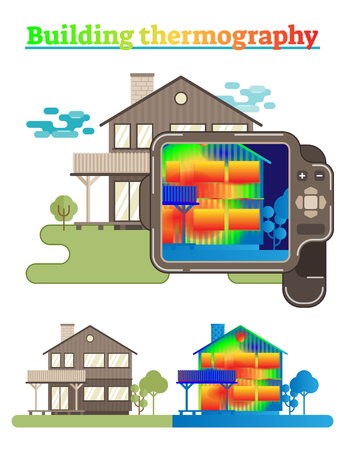 Building thermography illustration