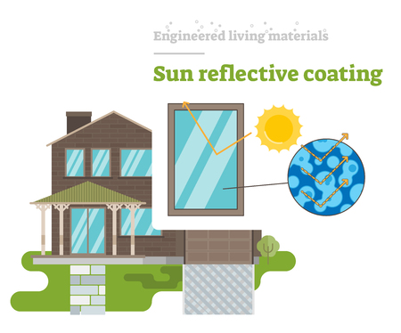 Sun Reflective Coating - Engineered Living Material Ilustrace