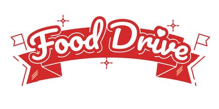 Nicht verderbliche Lebensmittel-Wohltätigkeitsbewegung des Lebensmittel-Antriebs, Vektorausweis-Logoillustration