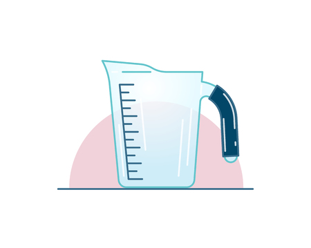 Blue measuring cup, isolated vector icon illustration Иллюстрация