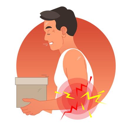 Elbow pain concept vector illustration