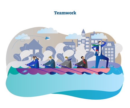 team, work, business, vector, illustration, people, teamwork, concept, design, group, businessman, person, man, corporate, company, human, idea, cooperation, together, employee, male, leadership, leader, working, project, collaboration, power, conceptual, businessmen, direction, boat, water, boss, competition, ocean, motivation, paddle, row, journey, determination, moving, challenge, drive, forward, lead, visionary, unity, looking, captain, directing Illustration