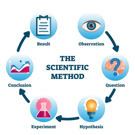 Scientific method vector illustration.