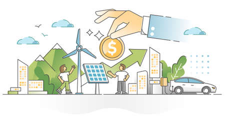 Renewable energy investment as natural future fund strategy outline concept