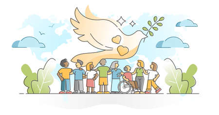 Solidarity as community social group diversity acceptance outline concept