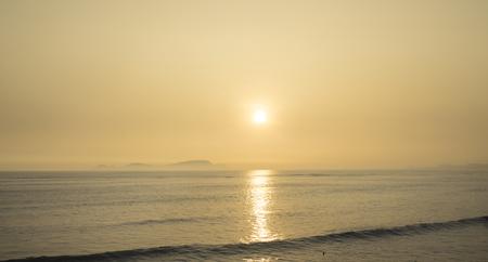 pacific ocean: Sun set pacific ocean, Lima, Peru Stock Photo