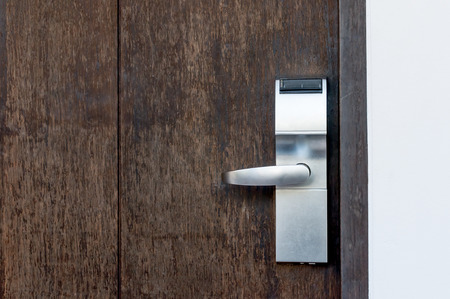 Electric lock assemble on a wooden door