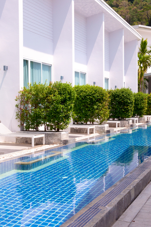 pool side: Pool side room with long range pool in Phuket Thailand