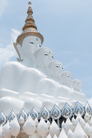 reincarnation: Five white reincarnation buddha statue