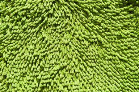 Green rug close up with details