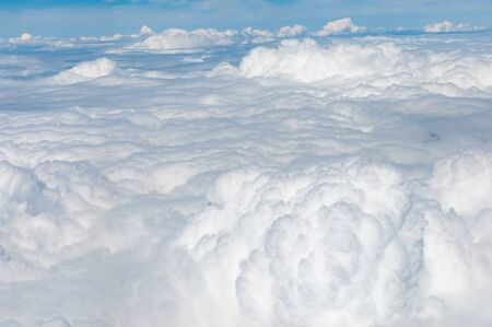 White clouds Aerial view, Cloudscape
