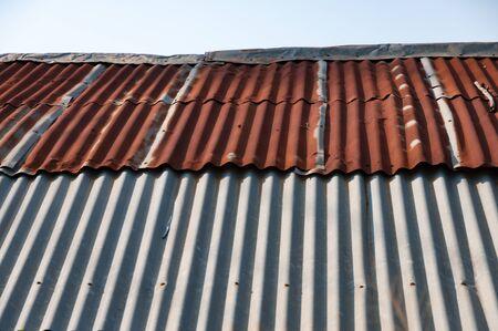 metal textures: Aged rusty old tin roof iron metal textures