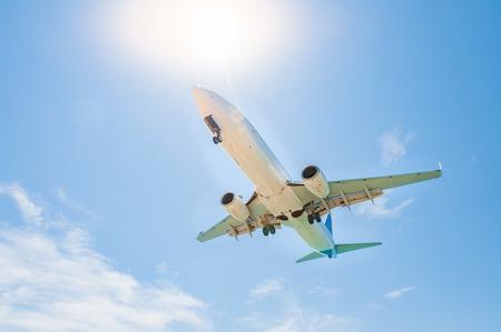 飛行機は約いくつかのフレアで空港に着陸するから底面図です。