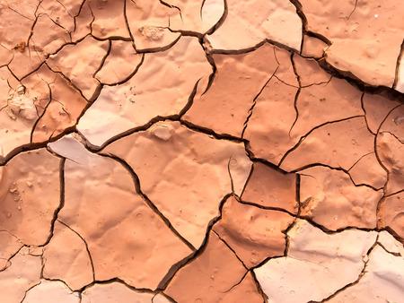 クローズ アップ乾燥ひび割れ泥の表すのため理想的な暑い日に地球温暖化と気候変動