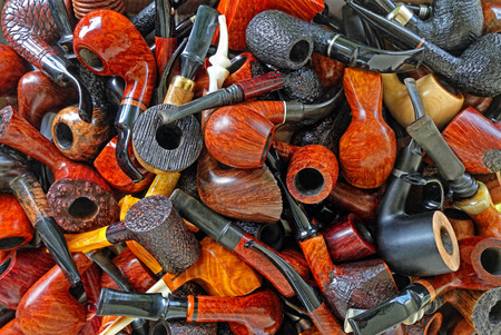 Tobacco pipes Stock Photo