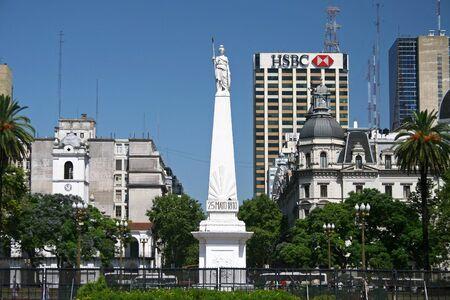 aires: May Pyramid, Buenos Aires, Argentina Editorial