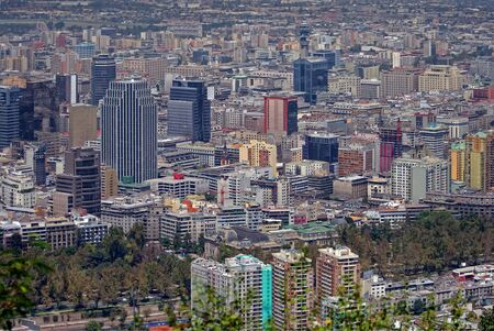 santiago: View of Santiago de Chile Editorial