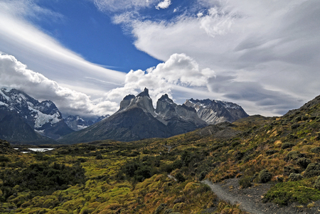 patagonian chile: Torres del Paine Mountains, Chile