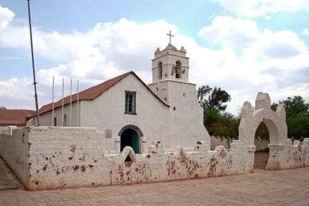 colonial church: Colonial church in San Pedro de Atacama