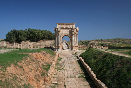 severus: Leptis Magna, Arc de Triomphe, Libya
