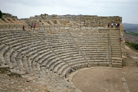 segesta: Amphitheater of Segesta, Sicily Editorial