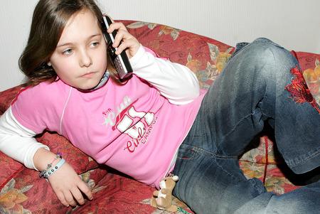teeny: phone Stock Photo