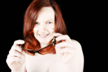 redhaired: red-haired woman Stock Photo