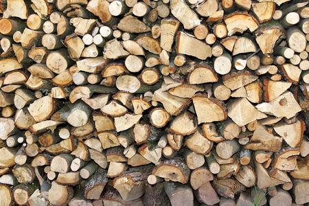 woodcutting: Firewood Stock Photo