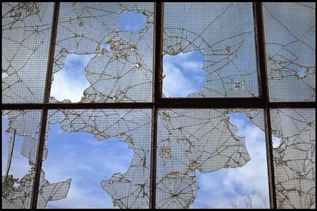 windowpanes: Shattered window