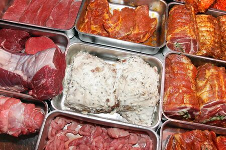 meat counter: Meat counter Stock Photo