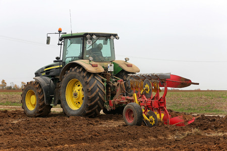 ploughing field: Plough Stock Photo