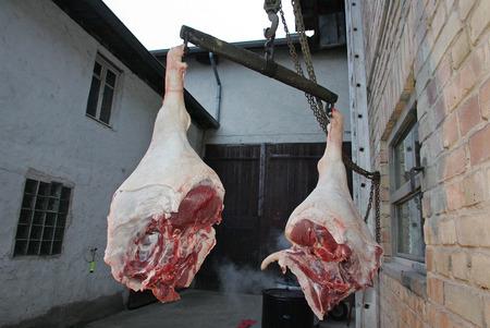 raw ham: raw ham Stock Photo