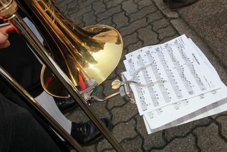 Trombone Standard-Bild